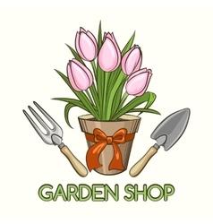 Garden Shop Emblem vector