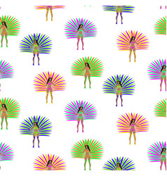 girls in carnival costume seamless pattern vector image