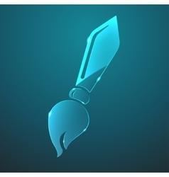 glass brush icon vector image