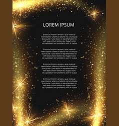 Golden glittering magic sparkle poster vector