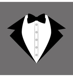 Groom suit bowtie wedding icon design graphic vector