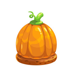 halloween sweet pumpkin on pastry cookies isolated vector image