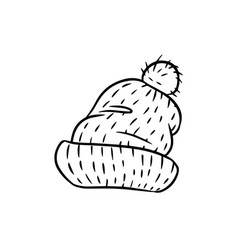 Hand drawn hipster cap vector