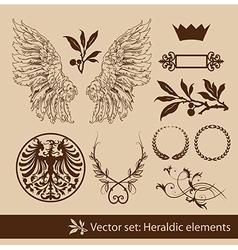 heraldy elements vector image