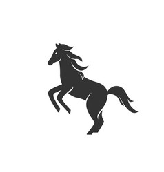 horse silhouette black and vector image