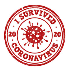 i survived coronavirus sign or stamp vector image