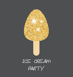 Ice cream on black background ice cream on black vector