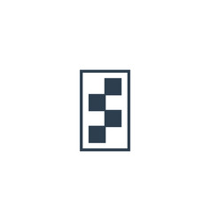 initial s racing sport logo type template vector image