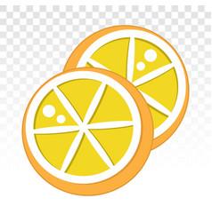 Lemon citrus half slice or citric acid flat icons vector
