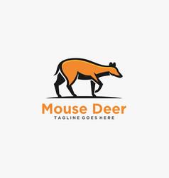 Logo mouse deer walking mascot cartoon style vector