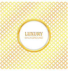 luxury label gold frame vector image