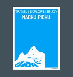 Machu pichu cuzco region peru monument landmark vector