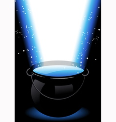 Magic cauldron vector