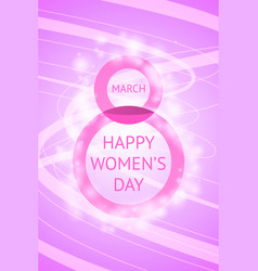 March 8 beautiful creative greeting card vector