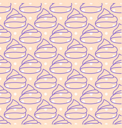 marshmallows pink seamless pattern vector image