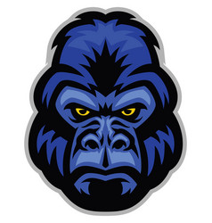Mascot gorilla head vector