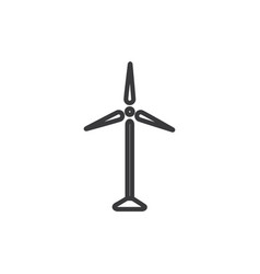 modern windmill icon vector image