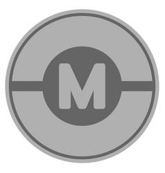 Motor silver coin vector