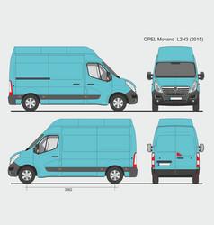 Opel movano cargo delivery van 2015 l2h3 vector
