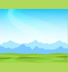 panorama with alpine mountains on a sunny day vector image