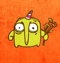 Party Alien Cartoon vector image