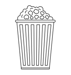 popcorn box icon outline style vector image