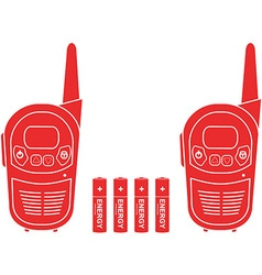 Portable Radio Set vector image