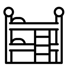 Quiet spaces bunk bed icon outline style vector