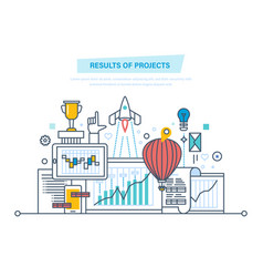 results of projects planning project management vector image