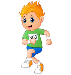 running boy cartoon vector image
