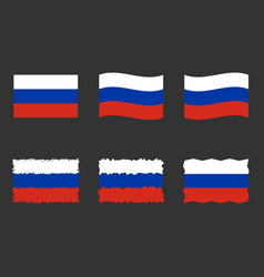 russia flag official colors vector image