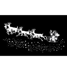 santa stars mosaic vector image
