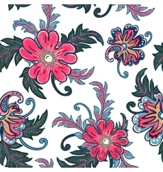 Seamless floral background Isolated flowers and vector image