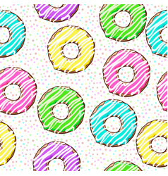 seamless pattern with dots and donuts vector image
