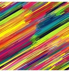 Seamless rainbow diagonal stripes color line art vector image