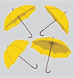 set with bright umbrellas vector image