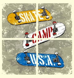 skate camp usa vector image