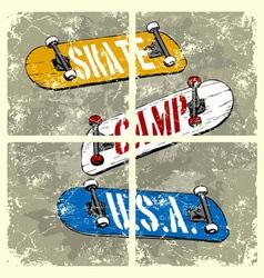 skate camp usa vector image vector image
