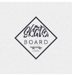 Skateboard - insignia badge label sign print vector image