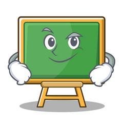 Smirking chalk board character cartoon vector