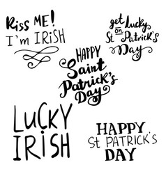 st patrick s day handwritten quotation poster vector image