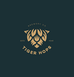tiger hops logo vector image