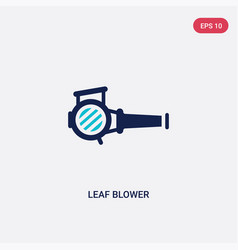 Two color leaf blower icon from electronic vector