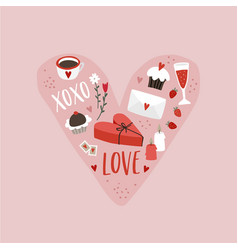 Valentines day or wedding greeting card party vector