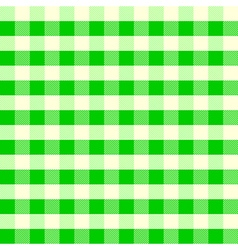 Vintage tablecloth pattern green vector