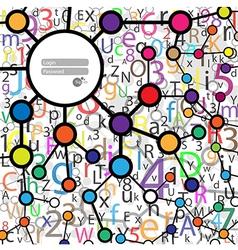 Website Design template Molecule vector