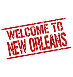 Welcome to new orleans stamp vector