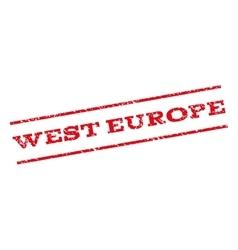 West Europe Watermark Stamp vector