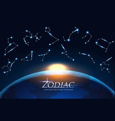Zodiac design concept astrology sings around vector