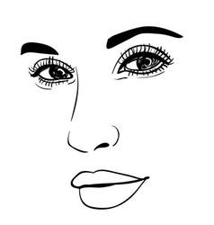 beautiful fashion woman portrait for make up on vector image